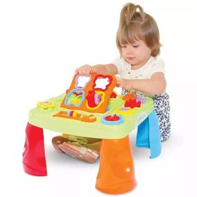 Mesa Mesinha Infantil Bebê 1 Ano C/ Som E Atividades Maral