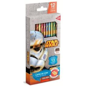 Lapis De Cor Com Apontador Star Wars - 12 Cores