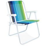 3 Cadeira De Praia Mor Alta Dobrável Vários Modelos