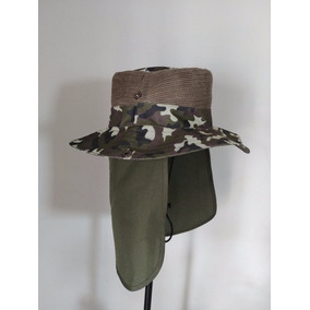 Sombrero Safari Cazador Excursion Camuflaje Excelente Calida