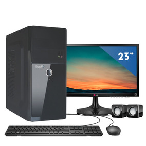 Computador Easypc Intel I5 8gb 1tb Monitor 23 Lg 23mp55 Hq