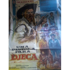 Cartaz De Cinema Antigo Mazzaropi Uma Pistola Para Jeca