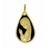 97bf4a0409071 Pingente Religioso Santa Madonna Folheado A Ouro 18k
