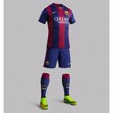Kit Com 10 Camisa+calção Gratis Do Barcelona+frete Grátis