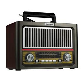 Radio Retro Vintage Classico Am Fm 4 Faixas Usb Bluetooth
