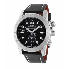 Glycine Airman Gmt Nuevo 42mm Quartz Negro