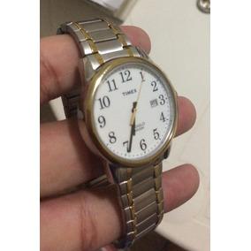 Relogio Timex Indiglo Wr 30m Prata E Dourado - Original