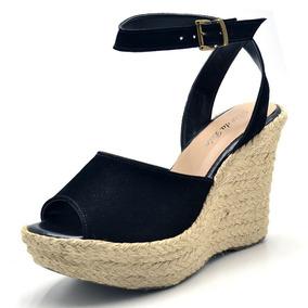 601c5aee80 Sandalia Trancada Preta Da Loja Peg Shoes Anabela - Sapatos no ...