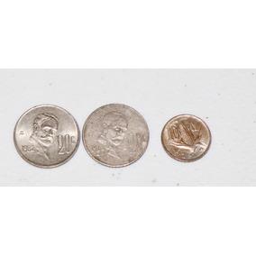 3 Monedas En Total 50¢ Pesos México 1980 Antiguas Auténticas