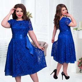 Vestido Plus Size V26 Moda Evangélica Gospel Civil Renda Top