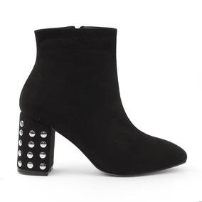 Zapatos Botines Dama Estoperoles Negros Elegantes