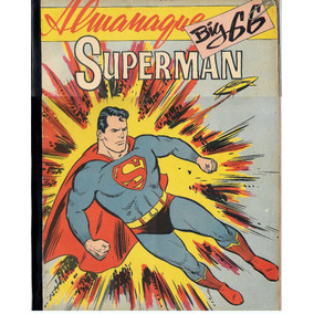 R500 Almanaque Big 66 Do Superman Ebal - 1966 - Original