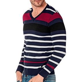 Suéter Sel 8002 Color Marino Vino Blanco Caballero Oi