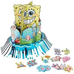 Kit De Decoración, Papel Silly Spongebob Party Table Tamps