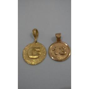 d270708ad63 2 Medalhas Lindas Banhado Ouro 18k Usado Mas Bem Conservado