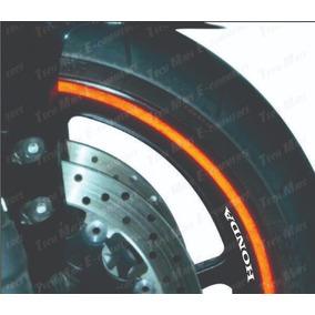 Kit Faixa Friso Adesivo Refletivo + Brinde 5mm Roda Motos
