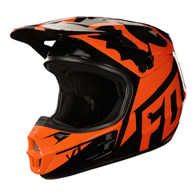 Capacete Fox V1 Race 18 - Laranja/preto