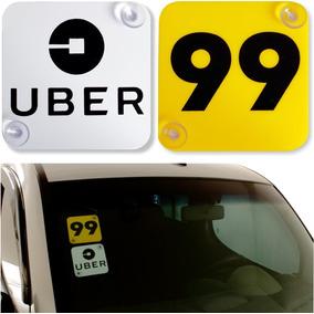 2 Placas Indicativas 99 Uber Motorista De Aplicativos Top