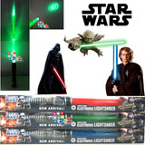 Sable Star Wars Retráctil Luz Sonidos Yoda Skywalker Vader