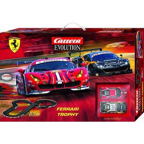 Autorama Set Carrera Evolution 1/32 Ferrari Trophy - 6,3 Mts
