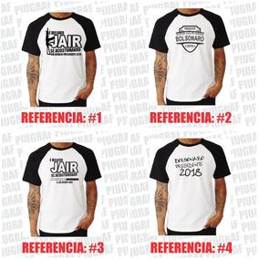 Kit 7 Camisa Camiseta Raglan Jair Bolsonaro Presidente