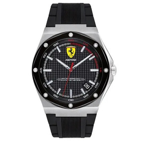 Relógio Scuderia Ferrari Masculino Borracha Preta 830529