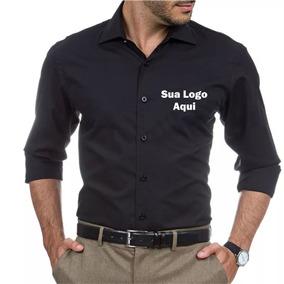 f8e14f4f9c Kit 4 Camisa Social Masculina Personalizada Com 2 Bordados