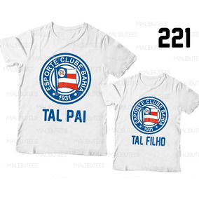 Camisa + Body Bahia Tal Pai Tal Filho Futebol Time 994534ec3fc6c