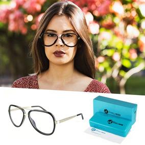 04e976cb91b1e Oculos De Grau Aviador Feminino Preto - Calçados, Roupas e Bolsas no ...