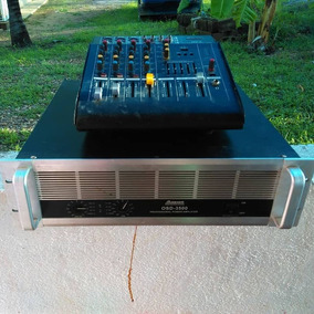 Cajon De Sonido Con Cornetas 15 Con Planta Y Amplificador