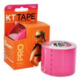 Bandagem Elástica Sintética Kt Tape 20 Tiras Rosa