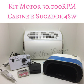 Kit Motor 30.000rpm+aspirador 3 Cooler+cabine Led/uv 48w.