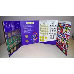 Coleção Completa Com 16 Moedas Das Olimpíadas + Álbum