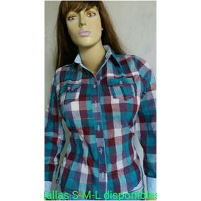 Camisa De Cuadros En Tela Abercromvie