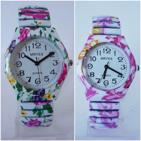 28a3b075e87 Kit 2 Relógios Femininos Floral + Brinde Promoção 12x S j