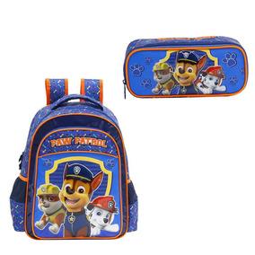 Kit Mochila Infantil E Estojo Paw Patrol 7992k2