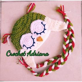 Gorro Búho Crochet Niños Y Adultos