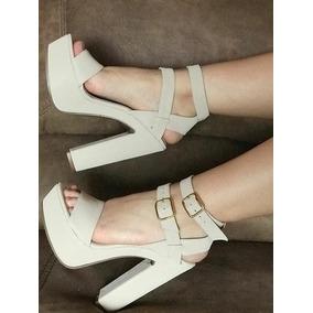 Tacones Bajitos Beige - Zapatos para Mujer en Mercado Libre Colombia 6fea706480ea