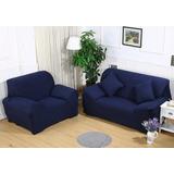 Chair(1 Seat) - Dark Blue - Sofá Universal Funda Slipco-7656