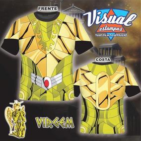 Camiseta Cavaleiro Do Zodíaco Armaduras De Ouro Virgem