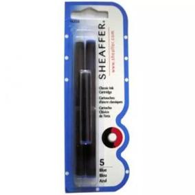 Carga Caneta Tinteiro Azul 96320 Com 5 Unid Sheaffer