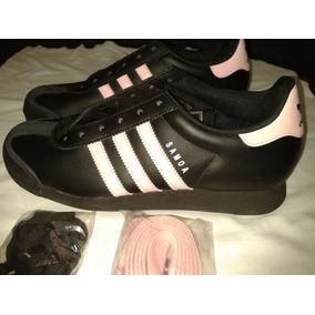 low priced fef00 c25b9 adidas Samoa, Negro Con Rosado, Talla 7,(38)