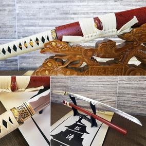Espada Katana Afiada Forjada Carbono Samurai Entrega 25 Dias