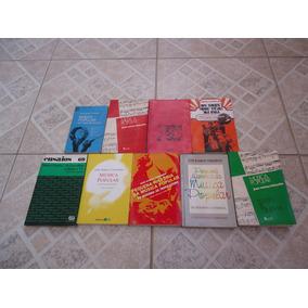 Lote C/ 9 Livros De História Da Mpb Por José Ramos Tinhorão