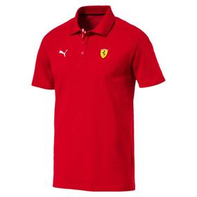 Camisa Ferrari Puma Sf Polo Rosso Corsa - Original