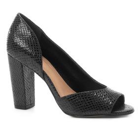 fad7b97cb Sapato Salto Alto Coro De Cobra Peep Toe - Sapatos no Mercado Livre ...