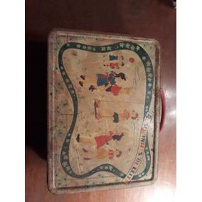 Caixa De Biscoitos Bau Antigo