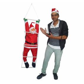 Papai Noel Escada Natalino Escalador Enfeite Natal Decoracao