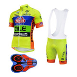 Uniforme Ciclismo Bike Bicicleta Camisa + Bretelles - Tam. L