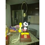 Lampara Teléfono Mickey Mouse Vintage.